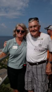 Bob with Alice - his favorite guide - at the top after making the climb at 90