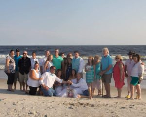 The required family picture after the wedding vowes.